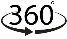 Black 360 White Background